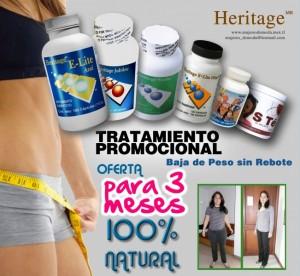 baja de peso con heritage elite azul sin dieta, sin rebote 100% natural