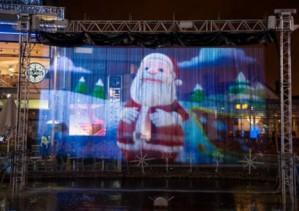 pantalla de agua para proyeccion gigante y espectacular