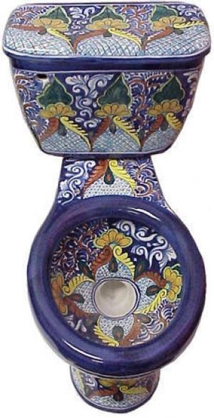 WC TASA DE BAÑO SANITARIOS TALAVERA Toilet talavera style